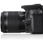 Canon Eos 100D vista di profilo
