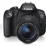Canon Eos 700D vista frontale