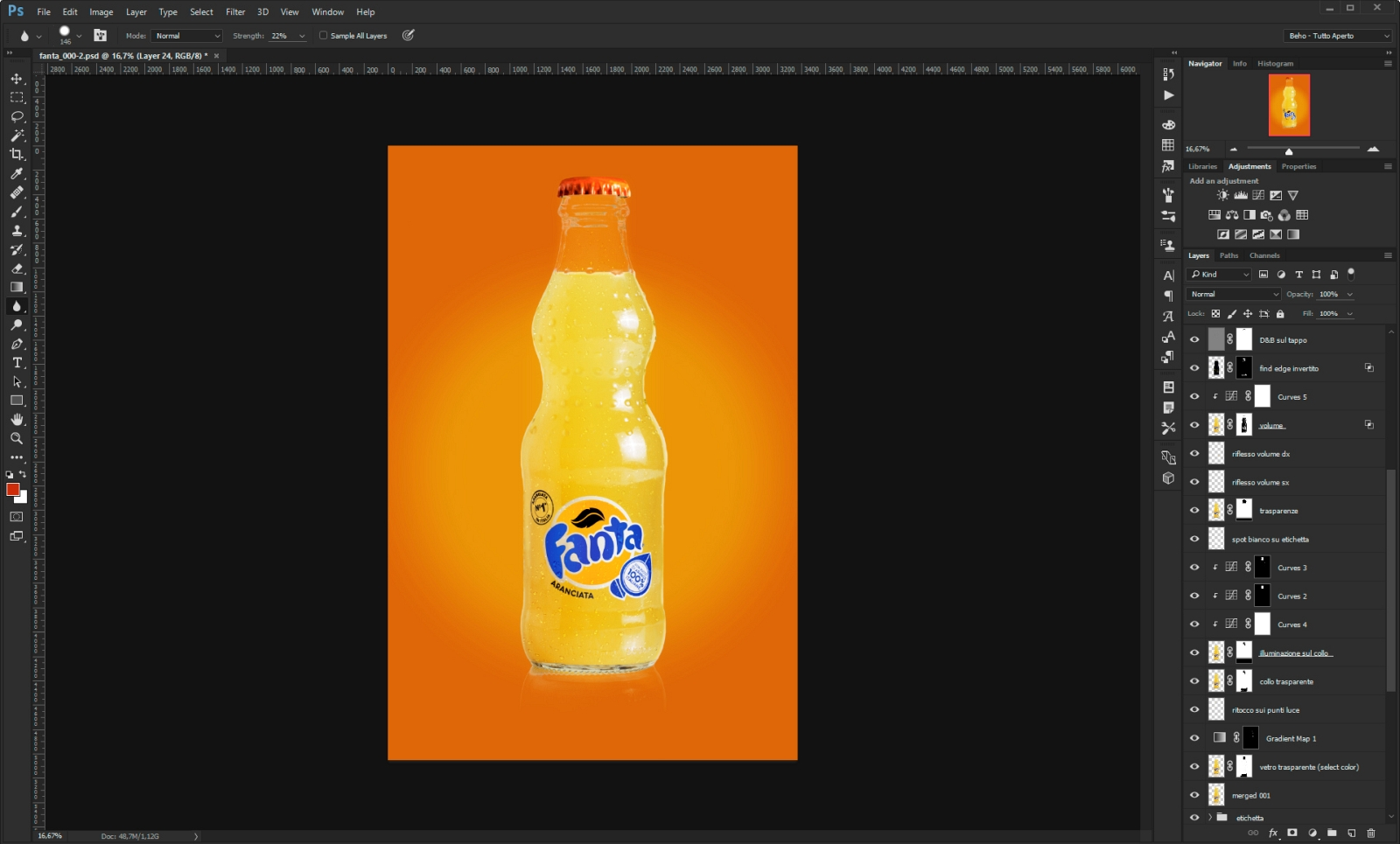 fanta photoshop layers