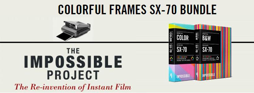 The Impossible Project cornici colorate per Polaroid_sx70