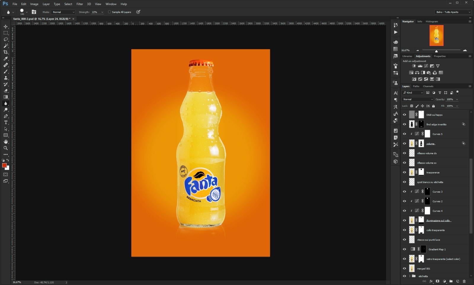 fanta photoshop layers